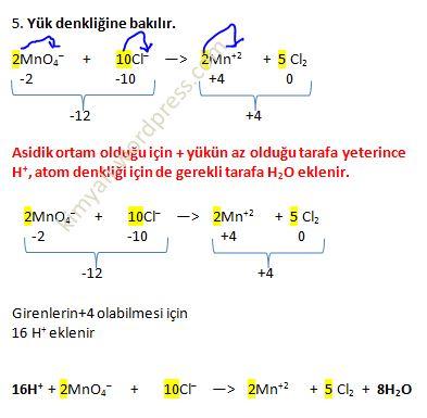 redoks denklem denkleştirme